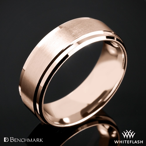 Benchmark CF68486 Drop Bevel Satin Wedding Ring