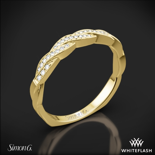 Simon G. MR1498-D Delicate Diamond Wedding Ring