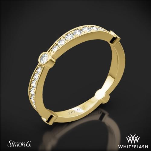 Simon G. MR1546 Delicate Diamond Wedding Ring