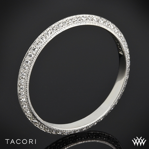 Tacori 2520ET Simply Tacori Knife-Edge Pave Diamond Wedding Ring