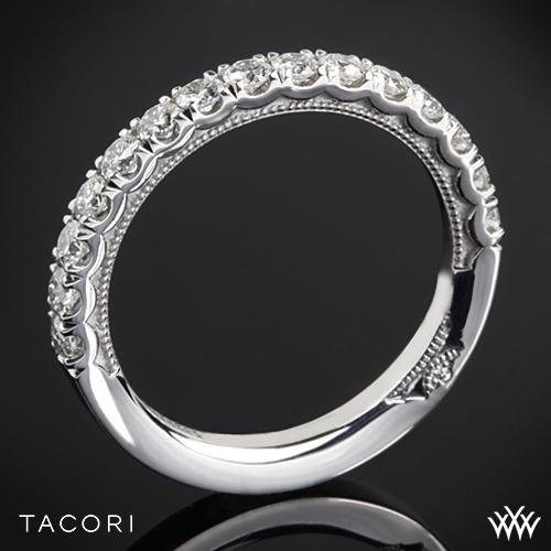 Tacori 33-25 Clean Crescent French Cut Diamond Wedding Ring