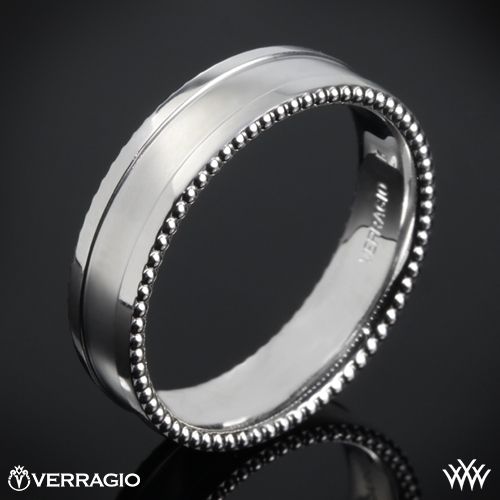 Verragio 6N13 Beaded Spin Satin Wedding Ring