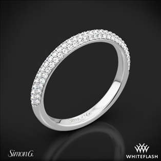 Simon G. LP1935-D Delicate Diamond Wedding Ring