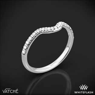 Vatche 1054 Swan French Pave Diamond Wedding Ring