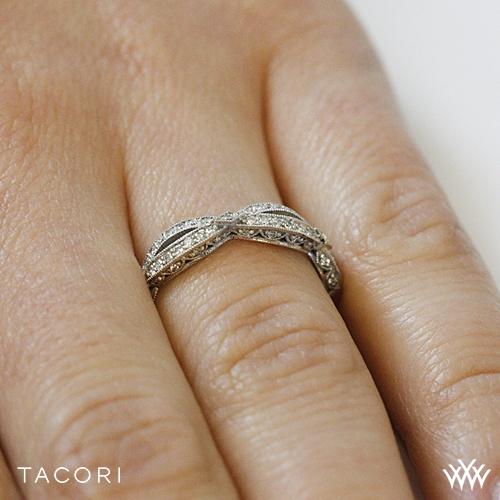 Tacori HT 2528 B 12 Ribbon Half Eternity Diamond Wedding Ring 3312