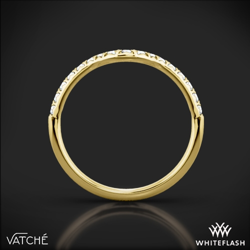 aa29bcd4b3aef 18k Yellow Gold Vatche 1054 Swan French Pave Diamond Wedding Ring