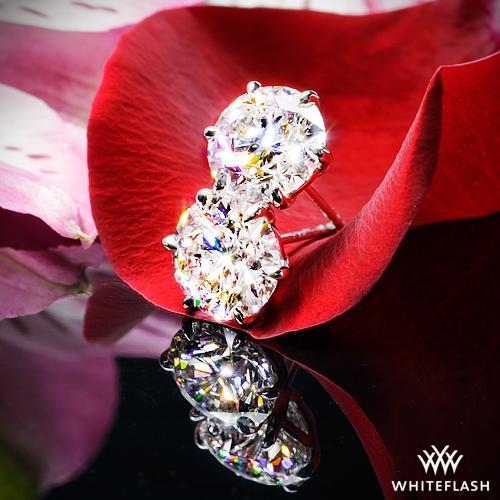 6 Prong Martini Diamond Earrings