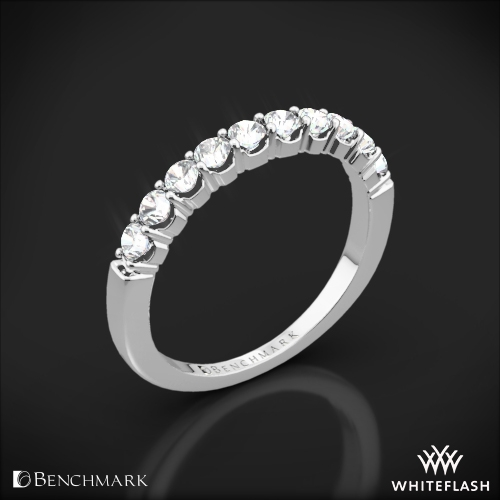 Benchmark CSPA4 Crescent Diamond Shared Prong Wedding Ring