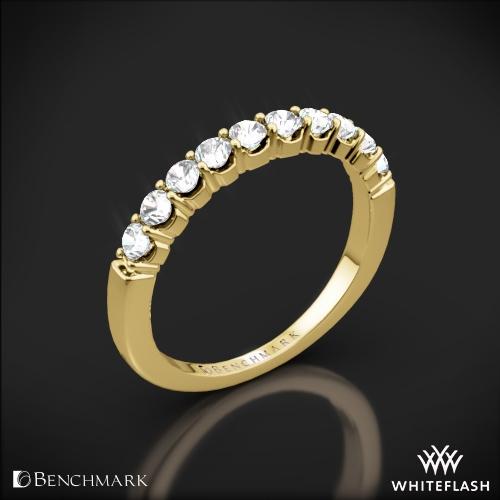 Benchmark CSPA4 Crescent Diamond Shared Prong Wedding Ring