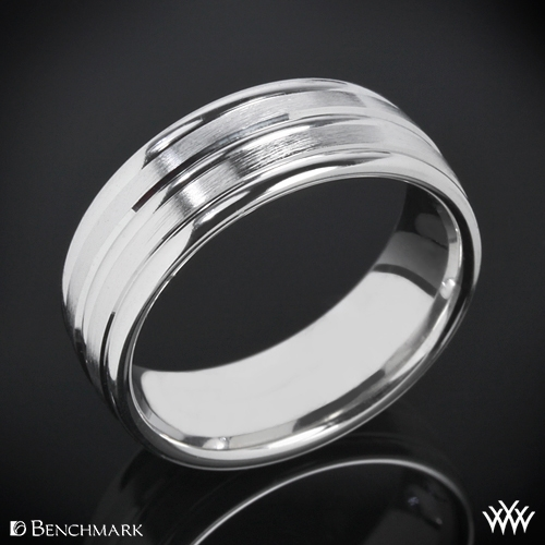 """Benchmark """"Chorded Satin"""" Wedding Ring"""