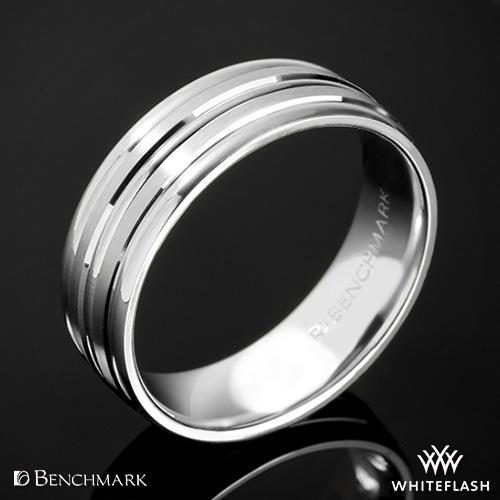 Benchmark Chorded Satin Wedding Ring