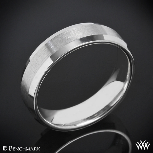"Benchmark ""Mirror Edge"" Wedding Ring"