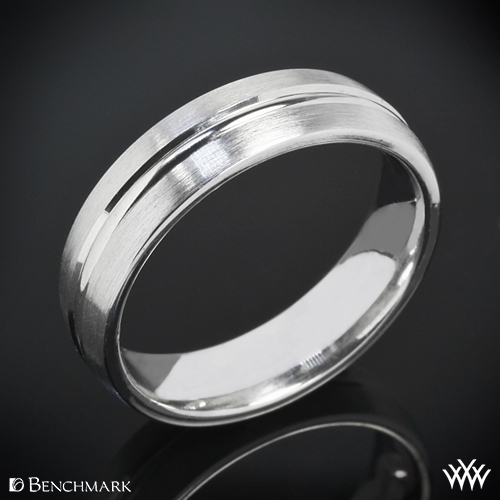 "Benchmark ""Split Satin"" Wedding Ring"