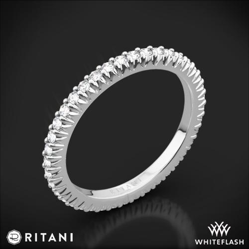 Ritani 33705 Open Micropavé Eternity Diamond Wedding Ring