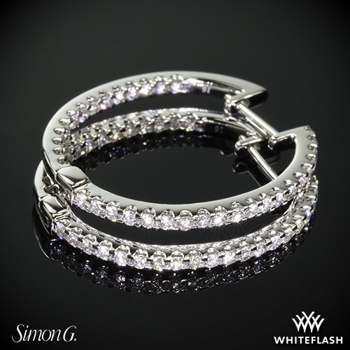 Simon G. ME1404 Caviar Diamond Earrings