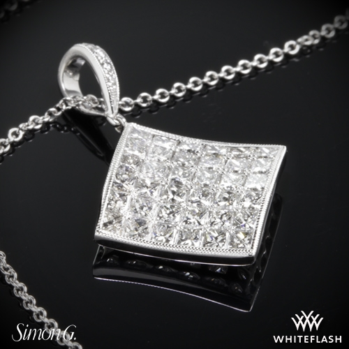 Simon G. MP2020 Simon-Set Diamond Pendant