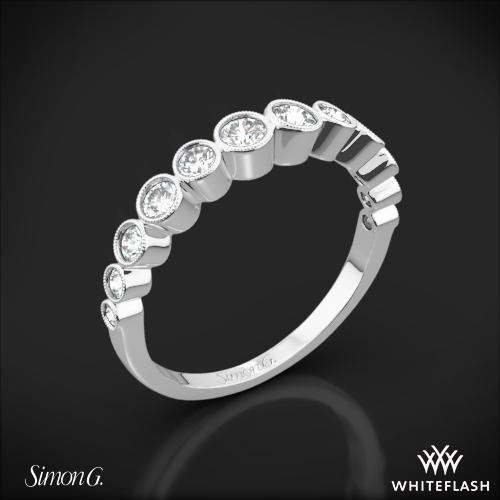 Simon G. MR2692 Caviar Diamond Wedding Ring
