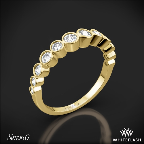 Simon G. MR2692 Caviar Diamond Wedding Ring