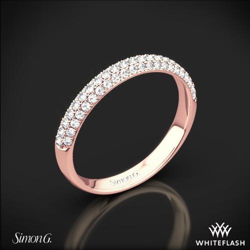 Simon G. TR431 Caviar Diamond Wedding Ring
