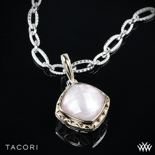 Tacori SN113P25 Blushing Rose Clear Quartz over Pink Mother of Pearl Enhancer