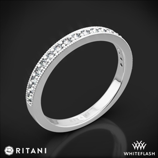 Ritani 21697 Milgrain Diamond Wedding Ring