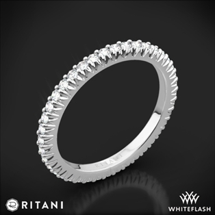 Ritani 33705 Open Micropavé Eternity Diamond Wedding Ring