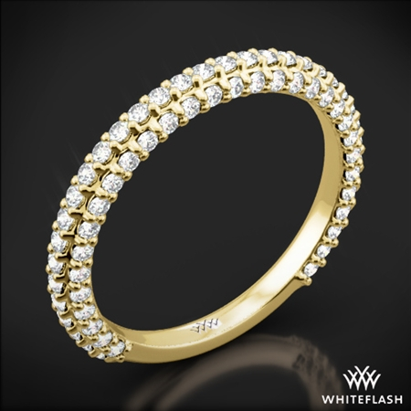 Elena Rounded Pave Diamond Wedding Ring