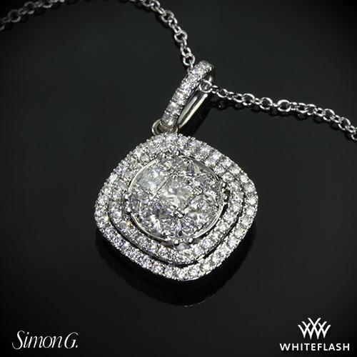 Simon g mp1797 simon set diamond pendant 3594 on neck view real photo audiocablefo