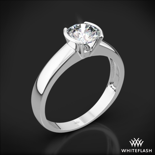 Keystone Solitaire Engagement Ring