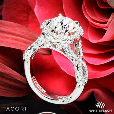 Tacori HT2549CU Petite Crescent Twisted Diamond Engagement Ring