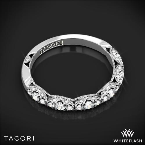 tacori ht2558b12 petite crescent diamond wedding ring whiteflash 4842 - Tacori Wedding Ring