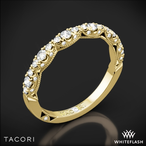 tacori ht2558b12 petite crescent diamond wedding ring whiteflash 1 - Tacori Wedding Ring