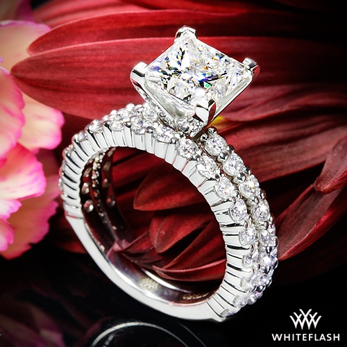Diamonds for an Eternity Three Quarter Diamond Wedding Set