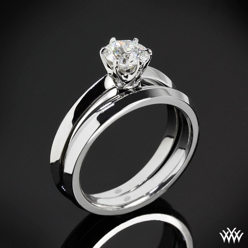 """Classic Knife-Edge"" Solitaire Wedding Set"