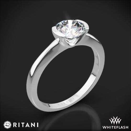 Ritani 1RZ1065 Semi Bezel-Set Solitaire Engagement Ring