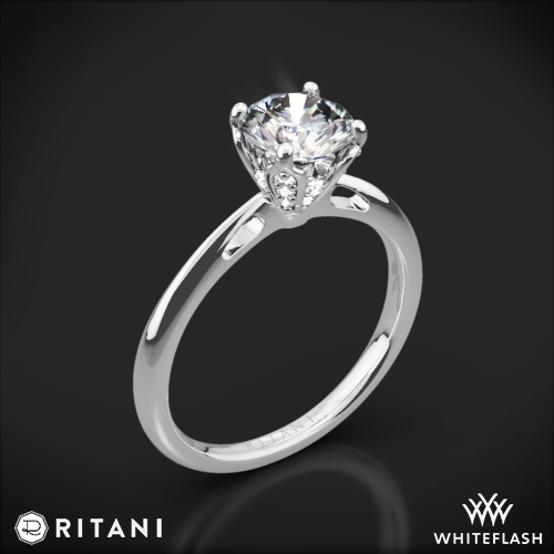 Ritani 1RZ3279 Embellished Prong Solitaire Engagement Ring
