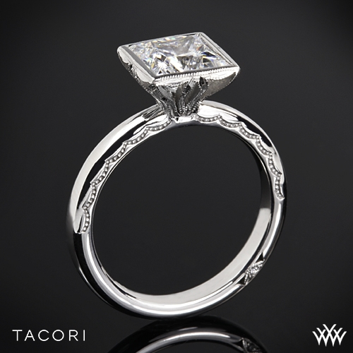 Tacori Starlit Princess Bezel Solitaire Engagement Ring