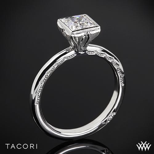 Tacori 300-2PR Starlit Petite Princess Solitaire Engagement Ring