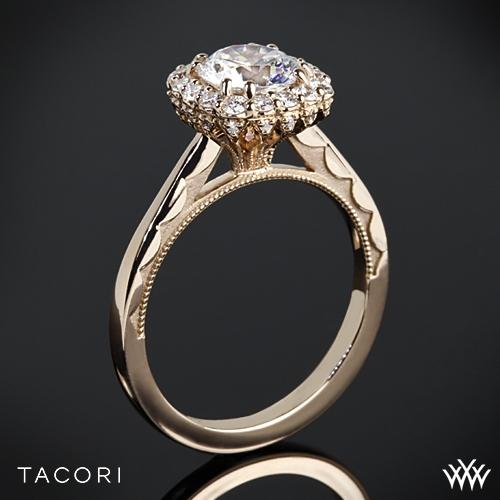 Tacori 55-2CU Full Bloom Cushion Halo Solitaire Engagement Ring