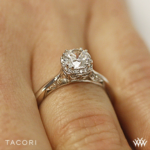 rsg tacori dantela crown complete solitaire engagement ring 3217 - Crown Wedding Ring