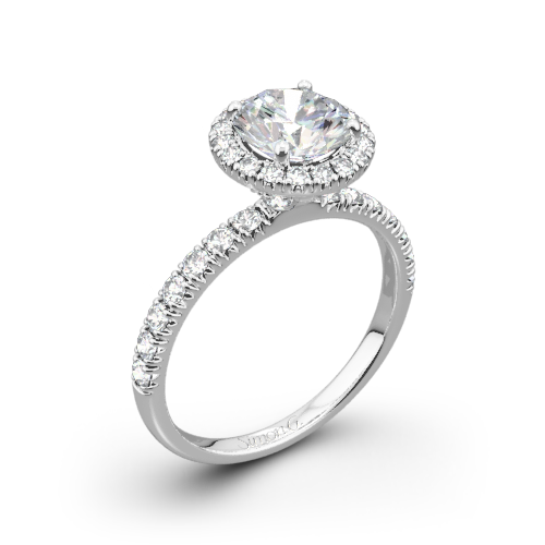 Simon G. MR1811 Passion Halo Diamond Engagement Ring