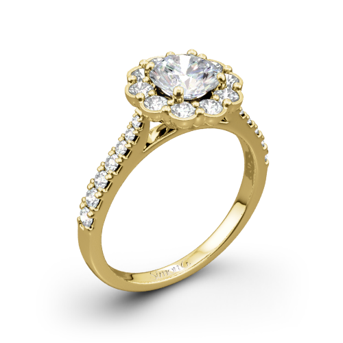 Simon G. MR2573 Passion Halo Diamond Engagement Ring