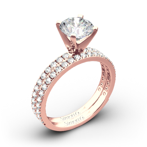 Simon G. PR148 Passion Diamond Wedding Set