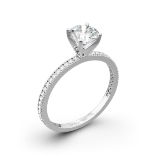 Simon G. PR108 Classic Romance Diamond Engagement Ring