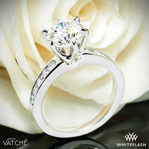 Vatche 6 Prong Channel Set Diamond Engagement Ring
