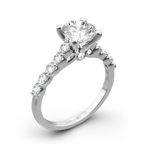 Verragio ENG-0410SR Shared-Prong Cathedral Diamond Engagement Ring