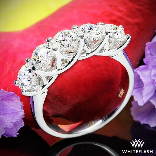 5 Stone Trellis Diamond Right Hand Ring