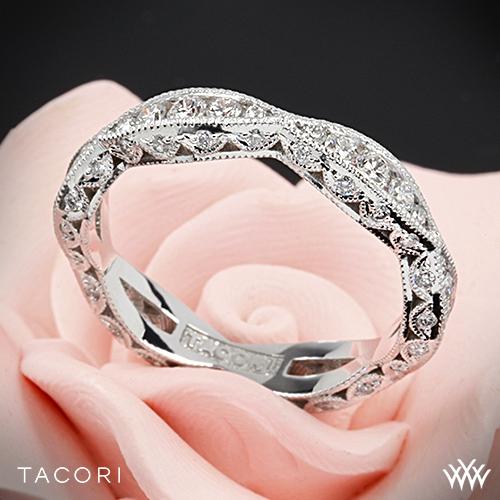 Tacori 2578b Classic Crescent Ribbon Twist Diamond Wedding