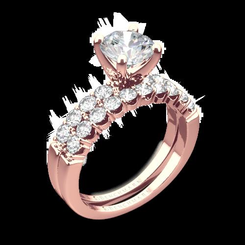 Benchmark CSP4 Crescent Diamond Wedding Set