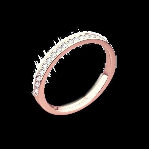 Benchmark Small Pave Diamond Wedding Ring
